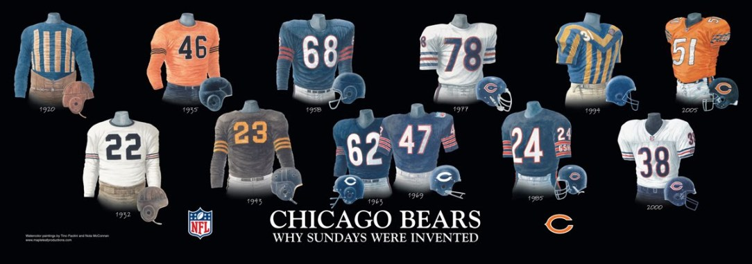 "d6dae2ec Chicago Bears ""New"" Classic Jersey – On Tap Sports Net"